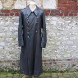 Heer manteau cuir gris officier