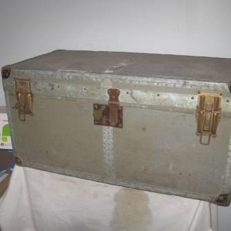 Malle individuelle officier wehrmacht ventes d 39 antiquit s militaires - Malle militaire bois ...